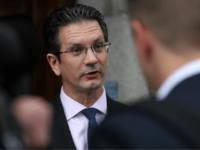 Conservative MP and former junior Brexit Minister, Steve Baker, speaks to members of the media as he arrives to attend a meeting of the pro-Brexit European Research Group (ERG) in central London on September 12, 2018. (Photo by DANIEL LEAL-OLIVAS / AFP) (Photo credit should read DANIEL LEAL-OLIVAS/AFP/Getty Images)