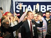Supporters cheer after Pete Stauber, Republican candidate for Minnesota's 8th Congressional District, was named the projected winner during his party night Tuesday, Nov. 6, 2018, in Proctor, Minn.