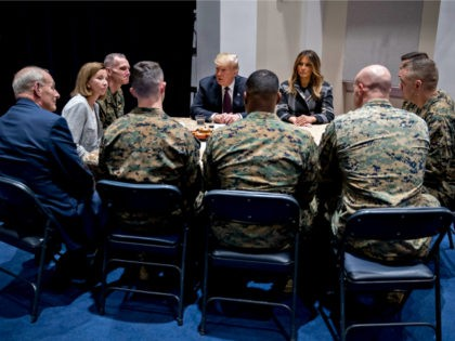 Donald Trump and Melania Trump Visit Hero Marines in Washington, DC