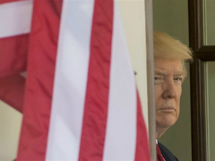 US President Donald Trump awaits the arrival of Italian Prime Minister Paolo Gentiloni for meetings at the White House in Washington, DC, April 20, 2017. / AFP PHOTO / SAUL LOEB (Photo credit should read SAUL LOEB/AFP/Getty Images)