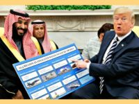 Trump, seen with Crown Prince Mohammed in the White House in March, has touted billions of dollars' worth of arms deals with Saudis