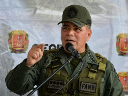 Venezuelan Defence Minister, general Vladimir Padrino Lopez, delivers a speech during the launching ceremony of the 'Plan Republica', the security operation for the presidential election on May 20, in Caracas, on May 15, 2018. (Photo by Luis ROBAYO / AFP) (Photo credit should read LUIS ROBAYO/AFP/Getty Images)