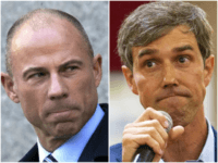 Michael Avenatti (R) and Beto O'Rourke (L)