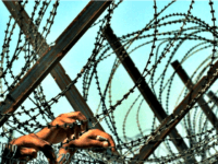 barbed wire at border