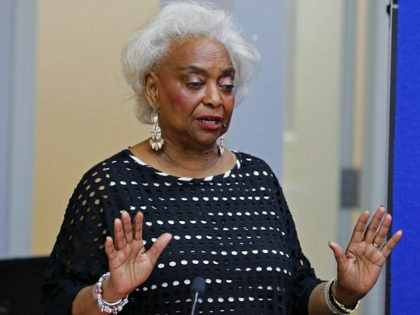 LAUDERHILL, FL - NOVEMBER 10: Dr. Brenda Snipes, Broward County Supervisor of Elections, makes a statement during a canvassing board meeting on November 10, 2018 in Lauderhill, Florida. Three close midtern election races for governor, senator, and agriculture commissioner are expected to be recounted in Florida. (Photo by Joe Skipper/Getty …