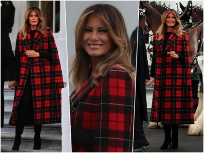 Fashion Notes: Melania Trump Kicks Off Holiday Season with Michael Kors Cape