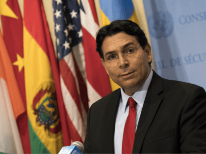 NEW YORK, NY - JULY 24: Israeli ambassador to the United Nations Danny Danon speaks during a brief press conference before a United Nations Security Council meeting at UN Headquarters, July 24, 2018 in New York City. Danon called on the United Nations to recognize Hamas as a terrorist organization. …