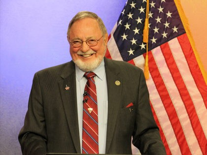 U.S. Rep. Don Young, a Republican, is shown prior to a debate Friday, Oct. 26, 2018, in Anchorage, Alaska. Young is being challenged by Alyse Galvin, an independent who won the Alaska Democratic primary. (AP Photo/Mark Thiessen)