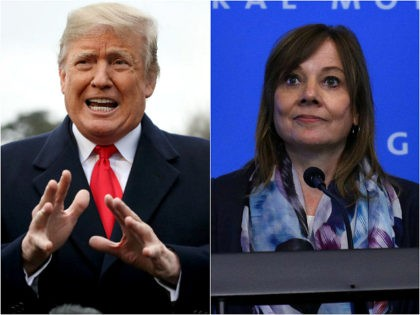 President Donald Trump and General Motors CEO Mary Barra