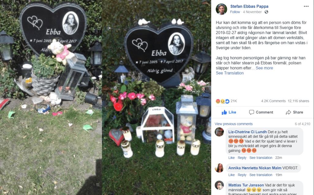 Sweden attack: Despair over death of schoolgirl Ebba