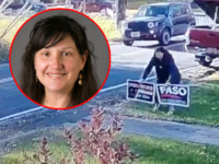 SUNY professor Laura Ebert, accused by police of stealing campaign signs