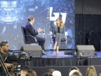 First Lady Melania Trump warns of the deceptive dangers of opioid abuse at Liberty University town hall event (Credit: Michelle Moons/Breitbart News)