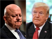 James Clapper and Donald Trump