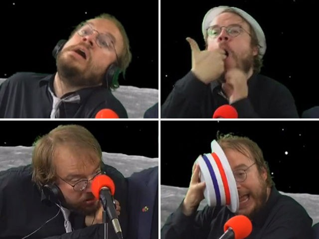"Matt Christman (@cushbomb) seen on a ""Chapo Trap House"" livestream on Election Night 2018."