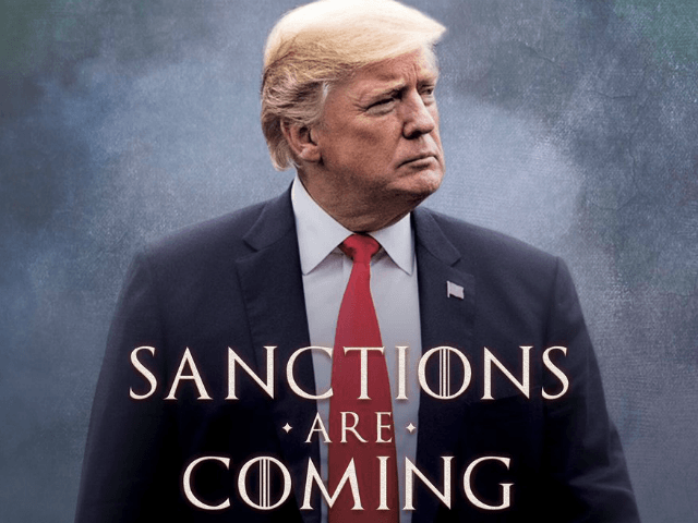 "President Donald Trump sent a message to Iran on Friday, warning them of his decision to snap back sanctions on their economy. The president's Twitter account posted a ""Sanctions are coming"" meme, playing on the popular Game of Thrones ""Winter is Coming"" meme."