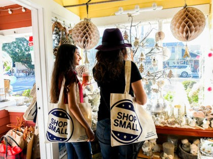 IMAGE DISTRIBUTED FOR AMERICAN EXPRESS - Shoppers browse holiday gifts in Mission Hills at Maison En Provence on Small Business Saturday, Nov. 25, 2017, in San Diego. (Denis Poroy/AP Images for American Express)