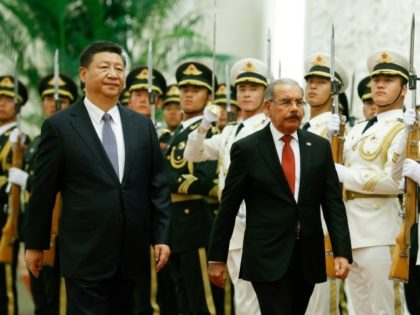 China's President Xi Jinping and the Dominican Republic's President Danilo Medina met in Beijing on Friday
