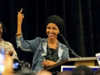 Ilhan Omar addresses supporters in Minneapolis, Minnesota after becoming of the first two Muslim women elected to the US Congress