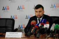 Denis Pushilin, a former negotiator with Kiev, is acting leader of the self-proclaimed Donetsk republic and is almost certain to win Sunday's election