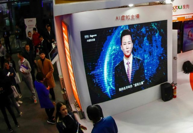 Based on the appearances of two flesh-and-blood Chinese news presenters, the computerised avatars read out text that is fed into their system, their mouths moving in tandem with the reports