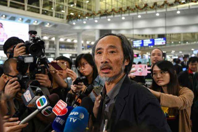 Exiled China author in Hong Kong as arts centre agrees to host talks