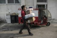 An estimated 1.1 million deliverymen deliver some 109 million packages across China every day to fulfil the country's insatiable demand for online shopping