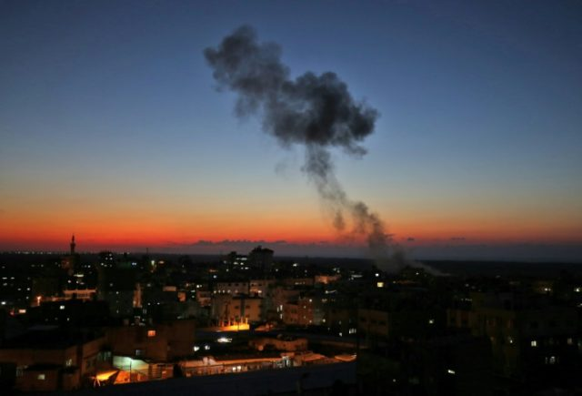 Israeli air strikes hit Gaza after rocket fire three killed