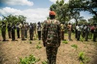 Rebels of the Sudan People's Liberation Movement-in-Opposition (SPLM-IO) take part in a military exercise at their base in Panyume, South Sudan, near the border with Uganda, despite a peace deal signed in September 2018