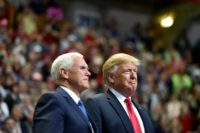 Vice President Mike Pence said he had a 'very strong relationship' with President Donald Trump after reports of a rift