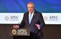 Australian Prime Minister Scott Morrison spoke out against tariffs against a backdrop of US-China trade tensions