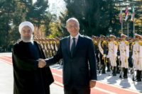Iraq's new President Barham Salih (R) meets Iranian counterpart Hassan Rouhani on his official visit to Tehran
