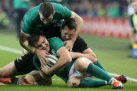Jacob Stockdale scored the only try of the game as Ireland stunned the All Blacks