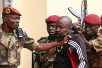 "Central African MP Alfred Yekatom aka ""Rambo"" (C), was arrested in October after he fired a gun inside the parliament in Bangui"