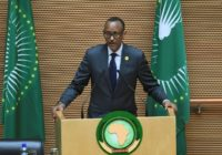Africa Union Chairman and Rwandan President Paul Kagame presses AU heads of state to agree long-debated reforms