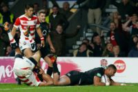 Joe Cokanasiga scored a debut try as England finally pulled away from Japan