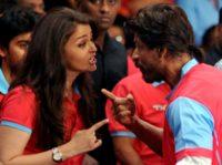 The sheikh met stars such as Aishwarya Rai (L) and Shah Rukh Khan