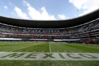 A general view of Estadio Azteca prior to the game between the New England Patriots and the Oakland Raiders on November 19, 2017 in Mexico City, Mexico