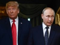 US President Donald Trump (L) and Russian President Vladimir Putin held a summit in Helsinki in July, 2018