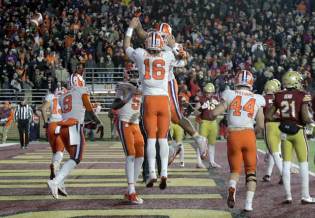 No. 2 Clemson knocks out No. 17 BC 27-7 to win division ...