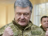 Ukrainian President Petro Poroshenko speak to soldiers during a visit to a military base in Chernihiv region, Ukraine, Wednesday, Nov, 28, 2018. Russia and Ukraine traded blame after Russian border guards on Sunday opened fire on three Ukrainian navy vessels and eventually seized them and their crews. The incident put …