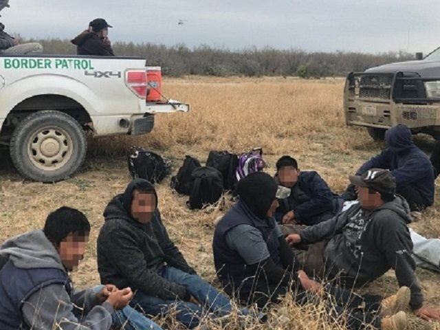 Laredo Sector agents apprehend a group of 63 illegal aliens on a ranch near the Texas border with Mexico. (Photo: U.S. Border Patrol/Laredo Sector)