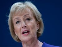 BIRMINGHAM, ENGLAND - OCTOBER 03: Minister of State at the Department of Energy and Climate Change Andrea Leadsom speaks on the second day of the Conservative Party Conference 2016 at the ICC Birmingham on October 3, 2016 in Birmingham, England. On the second day of the annual party conference, Chancellor …