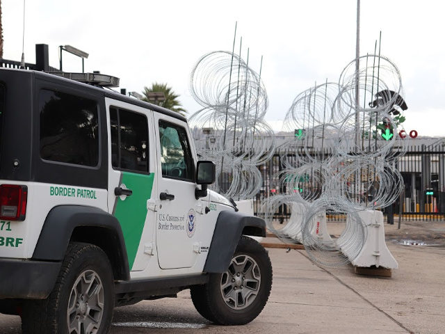 A Border Patrol Jeep at the Tecate Port of Entry