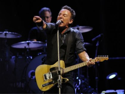 US Bruce Springsteen and The E Street Band perform, on May 13, 2012 in Sevilla. AFP PHOTO/ CRISTINA QUICLER (Photo credit should read CRISTINA QUICLER/AFP/GettyImages