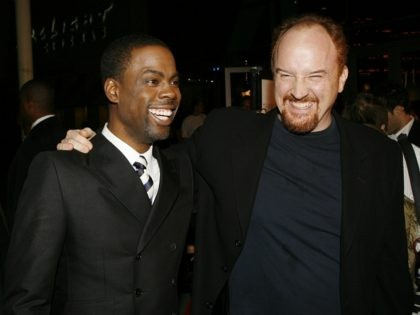 LOS ANGELES - MARCH 7: Actor/writer/director Chris Rock (L) and co-writer Louis CK arrive at the premiere of Fox Searchlight Picture's 'I Think I Love My Wife' at the ArcLight Cinemas on March 7, 2007 in Los Angeles, California. (Photo by Kevin Winter/Getty Images)LOS ANGELES - MARCH 7: Actor/writer/director Chris …