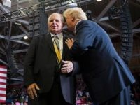 US President Donald Trump speaks to radio talk show host Rush Limbaugh
