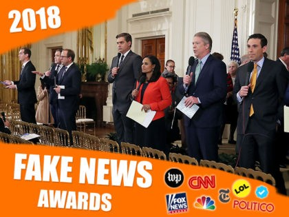 WASHINGTON, DC - NOVEMBER 07: White House television correspondents report after U.S. President Donald Trump gave a press conference a day after the midterm elections on November 7, 2018 in the East Room of the White House in Washington, DC. Republicans kept the Senate majority but lost control of the …