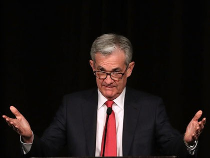 WASHINGTON, DC - DECEMBER 06: Federal Reserve Board Chairman Jerome Powell speaks during a Rural Housing Assistance Council Awards Reception, on December 6, 2018 in Washington, DC. (Photo by Mark Wilson/Getty Images)