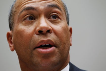 WASHINGTON, DC - MARCH 01: Massachusetts Governor Deval Patrick testifies before the House Energy Committee about the impact of the health care reform act on states during a hearing on Capitol Hill March 1, 2011 in Washington, DC. Under the leadership of potential GOP presidential hopeful Mitt Romney, Massachusetts began …