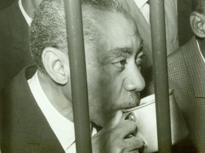 Sayyid Qutb drinks in 1966 a cup of water behind bars in Cairo. Sayyid Qutb (born 09 October 1906 in Musha executed 29 August 1966) was an important theoretician of the Egyptian Muslim Brotherhood. The school of thought he inspired has become known as Qutbism. AFP PHOTO / AFP / …